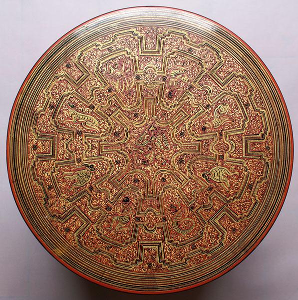 burmese lacquer box 21